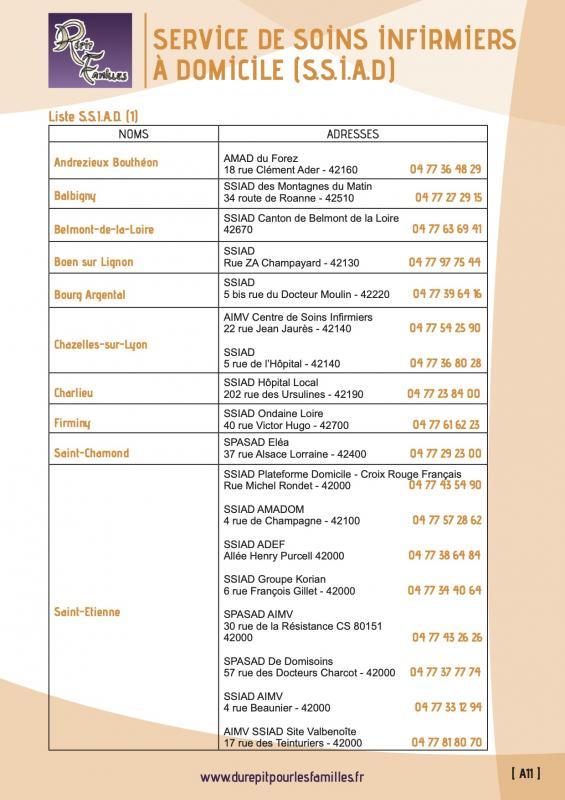 A11 services de soins infirmiers a domicile ssiad liste 1