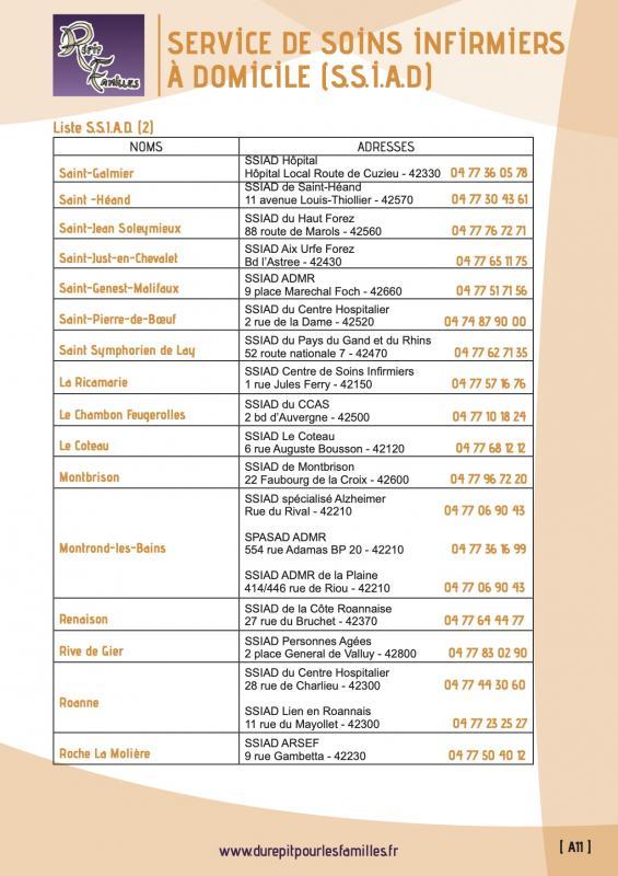 A11 services de soins infirmiers a domicile ssiad liste 2