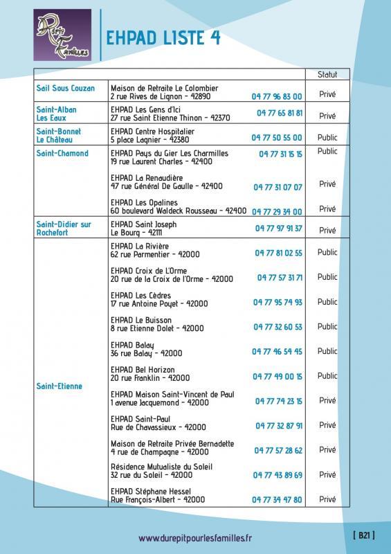 B21 etablissement d hebergement pour personnes agees dependantes ehpad liste 4