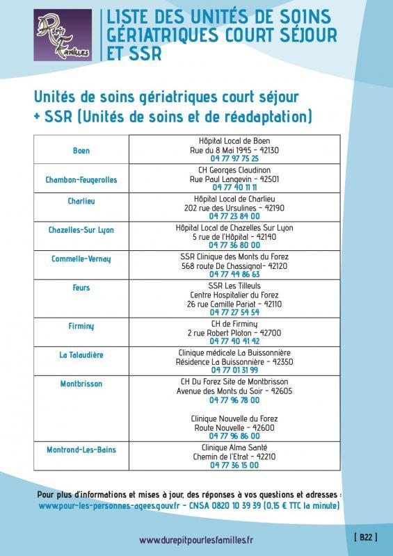 B22 listes des unites de soins geriatriques court sejour et ssr verso liste 1