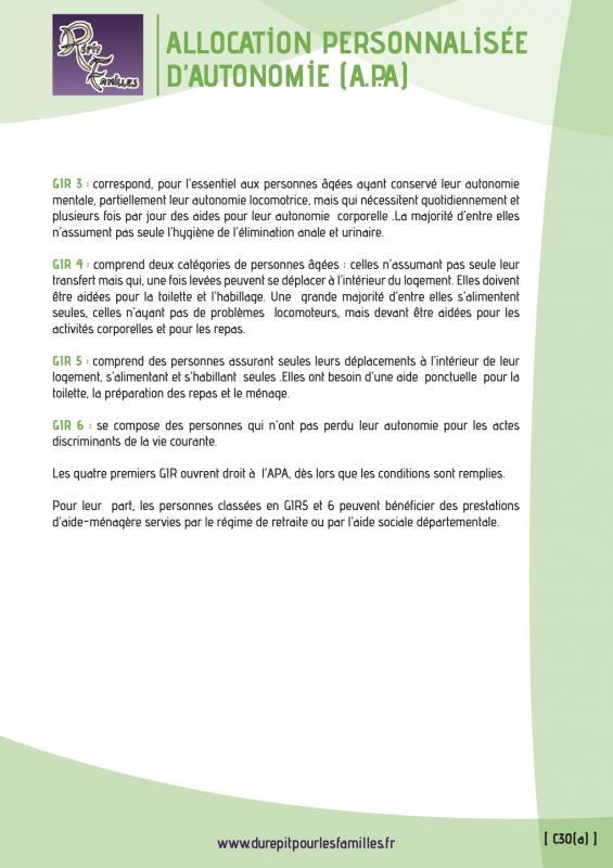 C30 a allocation personnalisee d autonomie apa verso