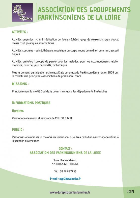 C37 association des groupements parkinsoniens de la loire